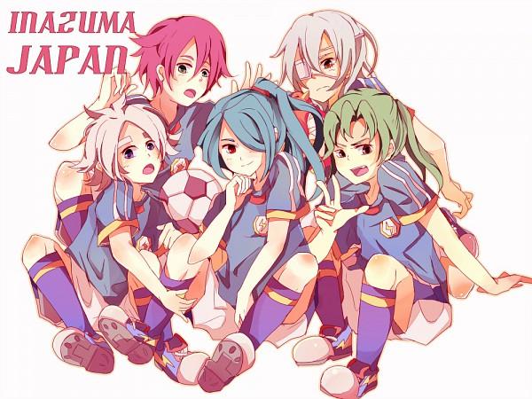 Tags: Anime, Level-5, Inazuma Eleven, Sakuma Jirou, Kiyama Hiroto, Fubuki Shirou, Midorikawa Ryuuji, Kazemaru Ichirouta, Text: Character Group Name, Fubukiyamaru, Inazuma Japan