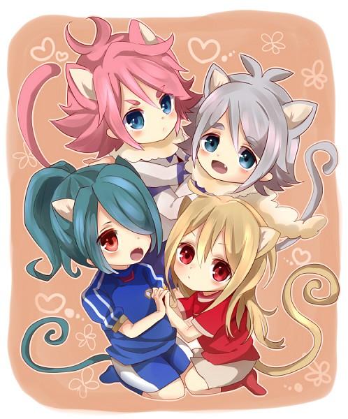 Tags: Anime, Level-5, Inazuma Eleven, Fubuki Atsuya, Kazemaru Ichirouta, Kiyama Hiroto, Afuro Terumi, Fubuki Shirou, Hakuren Uniform