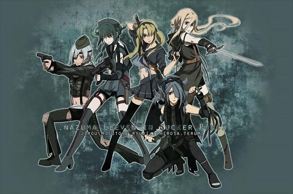 Tags: Anime, Kiu (Mangaka), Level-5, Sucker Punch, Inazuma Eleven, Mistorene Callus, Kazemaru Ichirouta, Midorikawa Ryuuji, Sakuma Jirou, Afuro Terumi, Team Ogre