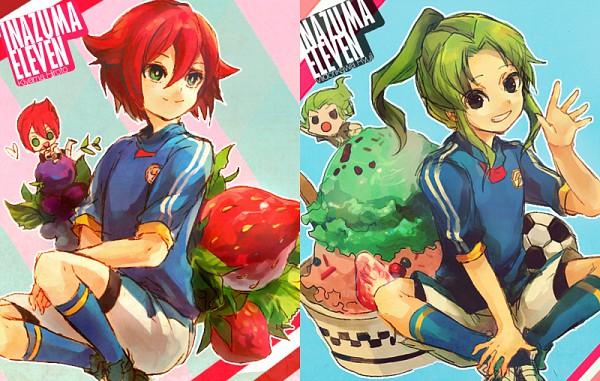 Tags: Anime, Welchino, Level-5, Inazuma Eleven, Midorikawa Ryuuji, Kiyama Hiroto, Inazuma Japan