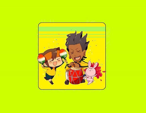 Tags: Anime, Level-5, Inazuma Eleven, Mac Roniejo, Endou Mamoru, Drumsticks, Maracas, Fanart, The Kingdom