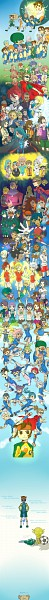Tags: Anime, Pixiv Id 1808231, Level-5, Inazuma Eleven, Nagumo Haruya, Fubuki Atsuya, Kazemaru Ichirouta, Genda Koujirou, Fudou Akio, Afuro Terumi, Kidou Yuuto, Endou Mamoru, Sakuma Jirou