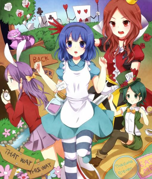 Tags: Anime, Akko16, Level-5, Alice in Wonderland, Inazuma Eleven, Kudou Fuyuka, Otonashi Haruna, Cheshire Cat, Kino Aki, Raimon Natsumi, Pocket Watch
