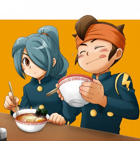 Tags: Anime, Inazuma Eleven, Endou Mamoru, Kazemaru Ichirouta, Ramen