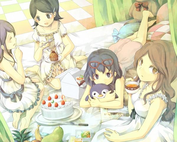 Tags: Anime, Aki-tsu (Artist), Inazuma Eleven, Raimon Natsumi, Kudou Fuyuka, Otonashi Haruna, Kino Aki, Pineapple