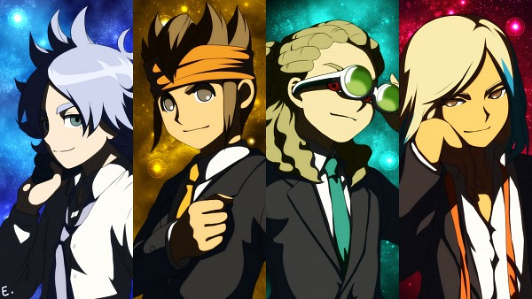 Tags: Anime, Pixiv Id 303449, Level-5, Inazuma Eleven GO, Inazuma Eleven, Gouenji Shuuya, Ishido Shuuji, Fubuki Shirou, Endou Mamoru, Kidou Yuuto, Wallpaper, Facebook Cover, Break Team