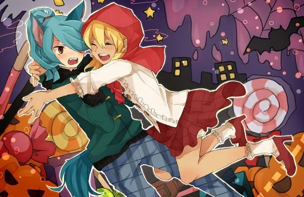 Tags: Anime, Pixiv Id 1037938, Inazuma Eleven, Miyasaka Ryou, Kazemaru Ichirouta, Pixiv, Fanart
