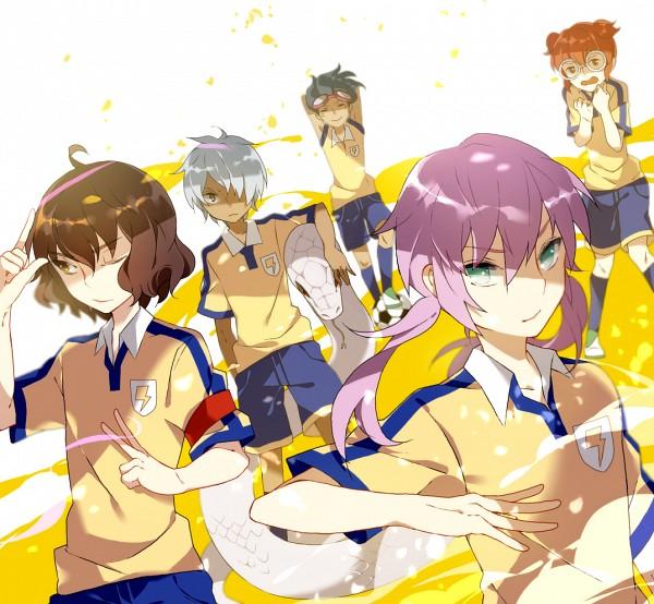 Tags: Anime, Pixiv Id 3390462, Level-5, Inazuma Eleven, Inazuma Eleven GO, Kirino Ranmaru, Hamano Kaiji, Shindou Takuto, Kurama Norihito, Hayami Tsurumasa, Pixiv, Fanart, Niinen Trio
