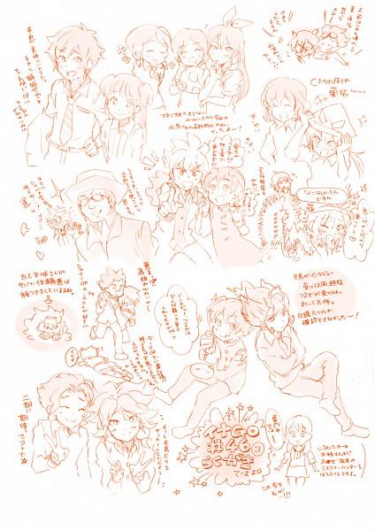 Tags: Anime, Pixiv Id 218069, Level-5, Inazuma Eleven, Inazuma Eleven GO, Hayami Tsurumasa, Kurumada Gouichi, Shindou Takuto, Sorano Aoi, Amemiya Taiyou, Handa Shinichi, Amagi Daichi, Kariya Masaki
