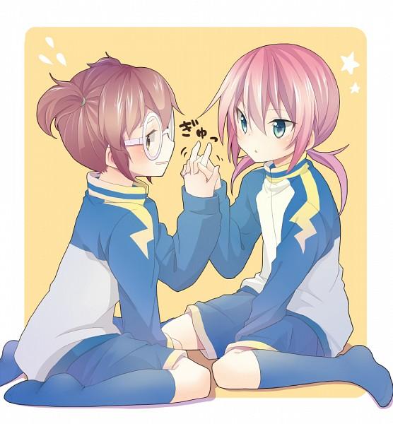 Tags: Anime, Izumi39, Level-5, Inazuma Eleven, Inazuma Eleven GO, Kirino Ranmaru, Hayami Tsurumasa, Pixiv, Fanart