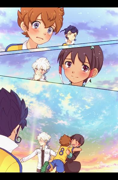 Tags: Anime, Level-5, Inazuma Eleven GO, Inazuma Eleven, Tsurugi Kyousuke, Matsukaze Tenma, Shuu (Inazuma Eleven), Pixiv, Mobile Wallpaper, Character Request