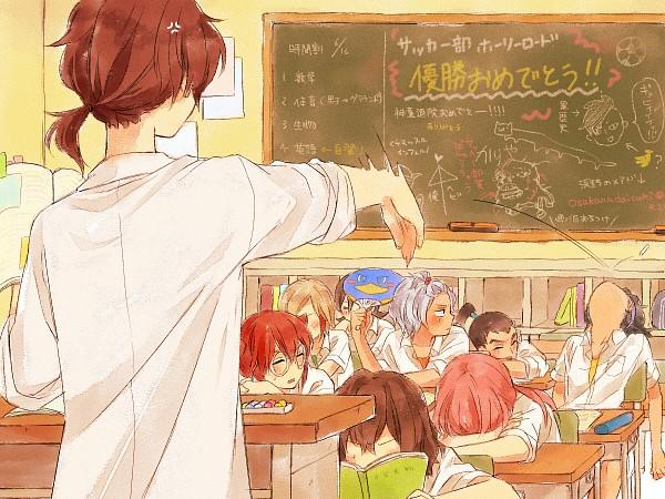Tags: Anime, Yuzudaze, Inazuma Eleven GO, Aoyama Shunsuke, Hamano Kaiji, Fudou Akio, Ichino Nanasuke, Kurama Norihito, Kirino Ranmaru, Nishiki Ryouma, Hayami Tsurumasa, Shindou Takuto, School Desk