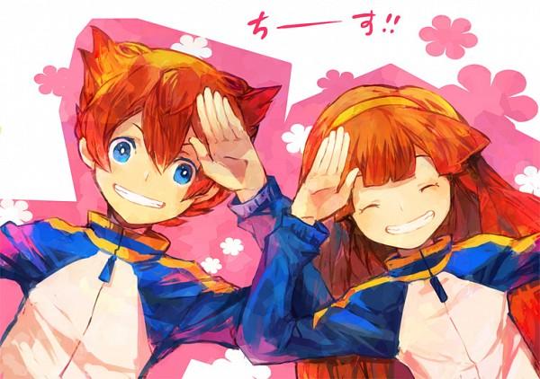 Tags: Anime, Pixiv Id 535163, Level-5, Inazuma Eleven, Inazuma Eleven GO, Inazuma Eleven GO Chrono Stone, Nanobana Kinako, Matsukaze Tenma, Pixiv, Fanart From Pixiv, Fanart
