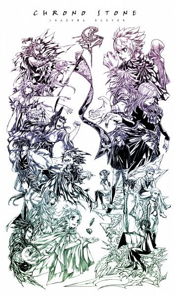 Tags: Anime, Pixiv Id 1363097, Inazuma Eleven GO, Inazuma Eleven GO Chrono Stone, Tsurugi Kyousuke, Fey Rune, Tobu, Tsurugi Yuichi, Gamma (Inazuma Eleven), Matsukaze Tenma, Amemiya Taiyou, Rei Rukh, Nanobana Kinako