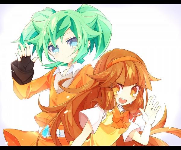 Tags: Anime, Yuui1994, Inazuma Eleven GO, Inazuma Eleven GO Chrono Stone, Nanobana Kinako, Fey Rune, Pixiv, Fanart, Fanart From Pixiv