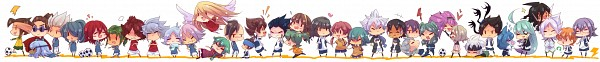 Tags: Anime, Pixiv Id 1247528, Inazuma Eleven GO Chrono Stone, Inazuma Eleven GO, Inazuma Eleven, Inazuma Eleven GO Galaxy, Kariya Masaki, Afuro Terumi, Fudou Akio, Gandales Baran, Nanobana Kinako, Sakuma Jirou, Matatagi Hayato