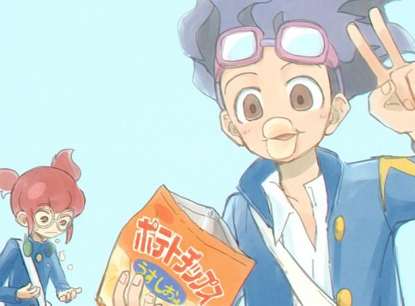 Tags: Anime, Pixiv Id 2071470, Inazuma Eleven GO, Hamano Kaiji, Hayami Tsurumasa, Fanart From Pixiv, PNG Conversion, Pixiv, Fanart