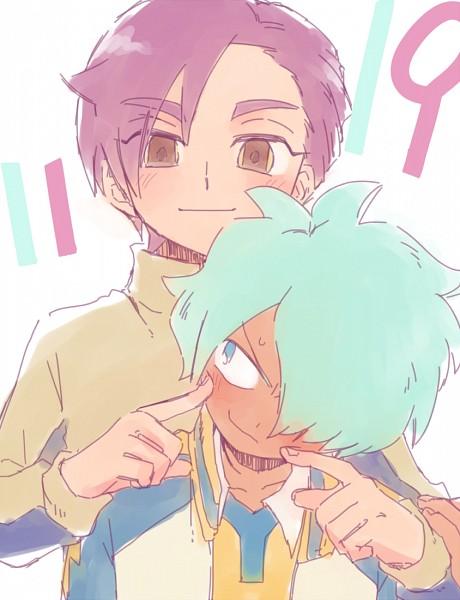 Tags: Anime, Pixiv Id 2071470, Inazuma Eleven GO, Kurama Norihito, Minamisawa Atsushi, Fanart, Fanart From Pixiv, PNG Conversion, Pixiv
