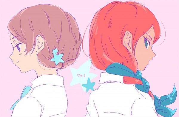 Tags: Anime, Pixiv Id 2071470, Inazuma Eleven GO, Yamana Akane, Seto Midori, Pixiv, Fanart, Fanart From Pixiv, PNG Conversion