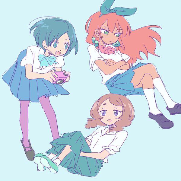 Tags: Anime, Pixiv Id 2071470, Inazuma Eleven GO, Yamana Akane, Seto Midori, Sorano Aoi, Bluye Hair, Yamana Akane (Cosplay), Sorano Aoi (Cosplay), Seto Midori (Cosplay), Fanart From Pixiv, Pixiv, Fanart