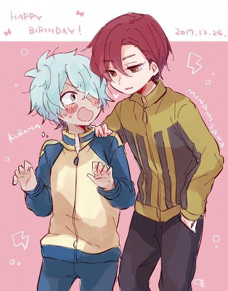 Tags: Anime, Pixiv Id 12123174, Inazuma Eleven GO, Minamisawa Atsushi, Kurama Norihito, Track Pants, Fanart, Fanart From Pixiv, Pixiv