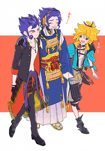 Tags: Anime, Pixiv Id 2239343, Inazuma Eleven GO, Tsurugi Kyousuke, Amemiya Taiyou, Tsurugi Yuichi, Urashima Kotetsu (Cosplay), Ookurikara (Cosplay), Touken Ranbu (Cosplay), Mikazuki Munechika (Cosplay), Fanart From Pixiv, Pixiv, Fanart