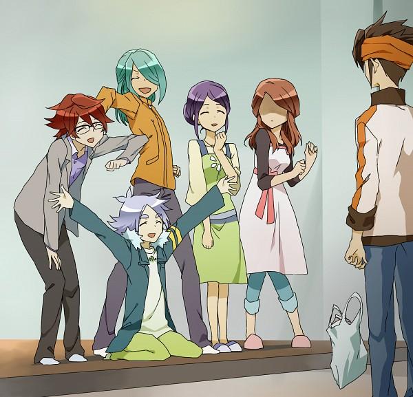 Tags: Anime, Catgirl0926 (Artist), Inazuma Eleven, Inazuma Eleven GO, Raimon Natsumi, Kiyama Hiroto, Fubuki Shirou, Kazemaru Ichirouta, Kudou Fuyuka, Endou Mamoru, Fanart, Fubukiyamaru
