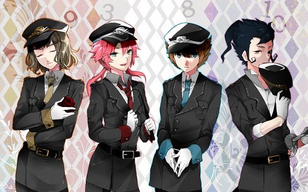 Tags: Anime, Sisutakh, Inazuma Eleven GO, Shindou Takuto, Kirino Ranmaru, Tsurugi Kyousuke, Matsukaze Tenma, Pixiv, Wallpaper, Fanart
