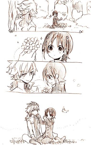 Tags: Anime, Naititi, Inazuma Eleven GO, Hakuryuu (Inazuma Eleven), Shuu (Inazuma Eleven), Wreath, Comic, Mobile Wallpaper, Pixiv