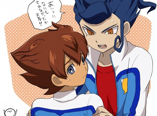 Tags: Anime, Petagon, Inazuma Eleven GO, Inazuma Eleven GO Galaxy, Tsurugi Kyousuke, Matsukaze Tenma, Pixiv, Fanart, Fanart From Pixiv