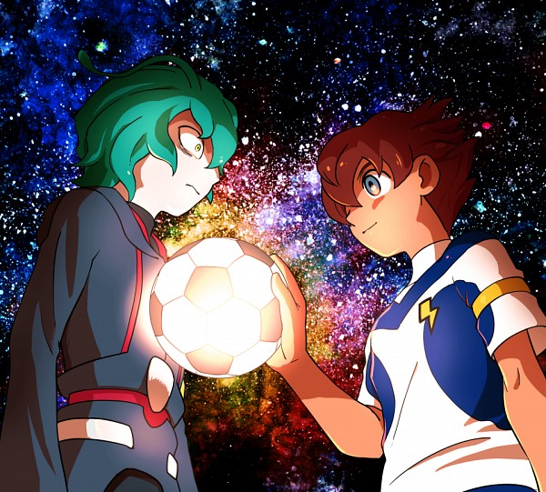 Tags: Anime, Pixiv Id 5458157, Inazuma Eleven GO Galaxy, Inazuma Eleven GO, Matsukaze Tenma, Bitway Ozrock, Ixal Fleet, Ixal Fleet Uniform, Fanart From Pixiv, Pixiv, Fanart, Shinsei Inazuma Japan