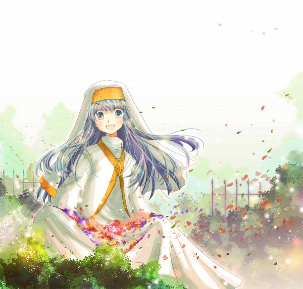 Tags: Anime, Pixiv Id 2706338, To Aru Majutsu no Index, Index, Skirt Basket, Garden, Pixiv