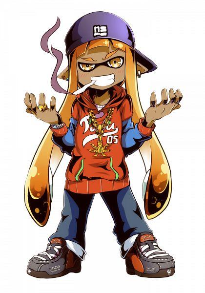 Tags: Anime, Drpow, Splatoon, Inkling (Splatoon), Mobile Wallpaper, Pixiv, Fanart, Fanart From Pixiv, PNG Conversion