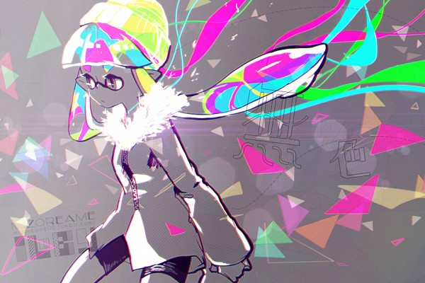 Tags: Anime, Mizoreame, Splatoon, Inkling (Splatoon), Fanart From Pixiv, PNG Conversion, Pixiv, Fanart