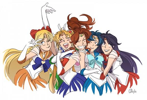 Tags: Anime, Chirart, Bishoujo Senshi Sailor Moon, Sailor Venus, Mizuno Ami, Tsukino Usagi, Sailor Jupiter, Kino Makoto, Sailor Mercury, Aino Minako, Sailor Moon (Character), Sailor Mars, Hino Rei