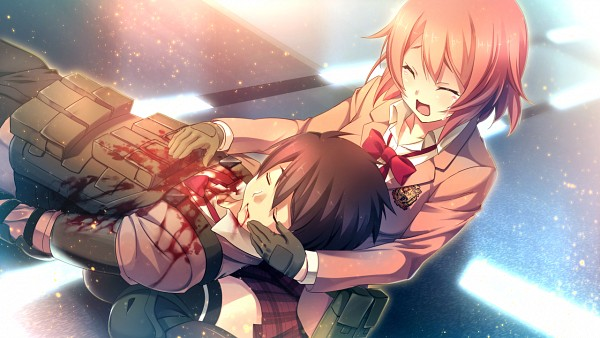 Tags: Anime, Oosaki Shinya, CINEMATOGRAPH, Innocent Bullet -the false world-, Nachi Yuuji, Kanzaki Sayaka, Wallpaper, CG Art