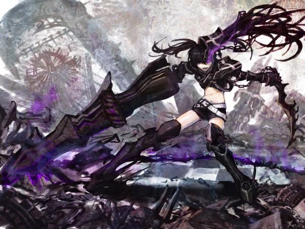 Tags: Anime, M874, Black★Rock Shooter, Insane Black★Rock Shooter, Wallpaper, Pixiv