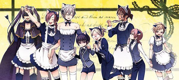 Tags: Anime, Teinpomu, Inu x Boku SS, Miketsukami Soushi, Yukinokouji Nobara, Shirakiin Ririchiyo, Natsume Zange, Shoukin Kagerou, Watanuki Banri, Roromiya Karuta, Sorinozuka Renshou, Pixiv, Fanart