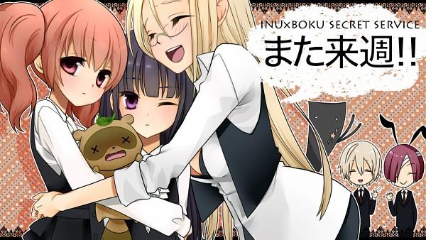 Tags: Anime, Pixiv Id 37854, Inu x Boku SS, Yukinokouji Nobara, Natsume Zange, Roromiya Karuta, Watanuki Banri (Tanuki), Miketsukami Soushi, Sorinozuka Renshou (Ittan-momen), Shirakiin Ririchiyo, Raccoon, Facebook Cover, Fanart