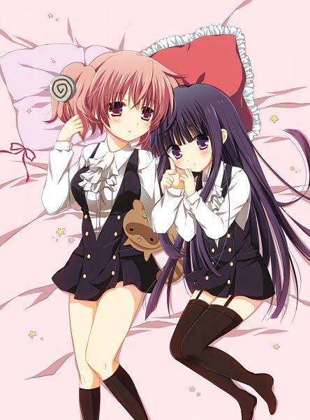 Tags: Anime, Pokopi, Inu x Boku SS, Roromiya Karuta, Shirakiin Ririchiyo, Watanuki Banri (Tanuki), Raccoon, Fanart From Pixiv, Pixiv, Fanart