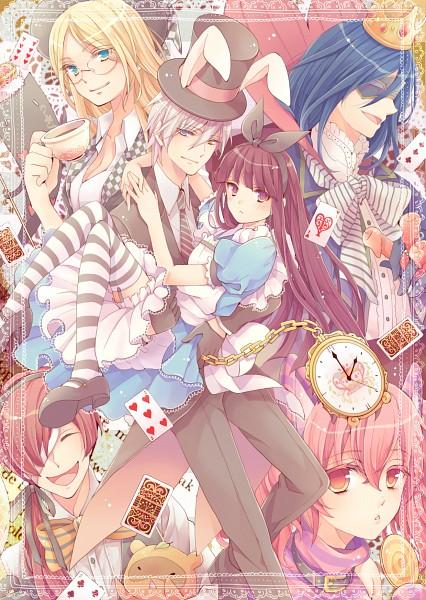 Tags: Anime, Pixiv Id 4033473, Inu x Boku SS, Watanuki Banri (Tanuki), Shoukin Kagerou, Roromiya Karuta, Sorinozuka Renshou, Miketsukami Soushi, Yukinokouji Nobara, Shirakiin Ririchiyo, Natsume Zange, Alice in Wonderland (Parody), Raccoon