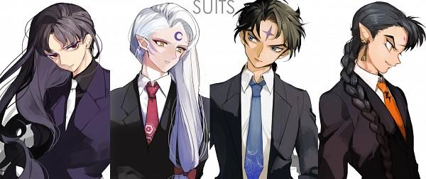 Tags: Anime, Pixiv Id 9143815, InuYasha, Sesshoumaru, Hiten (Inuyasha), Bankotsu, Naraku, Facebook Cover
