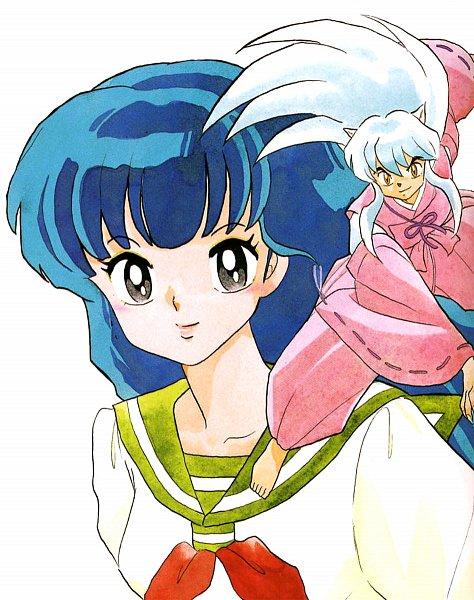 Tags: Anime, Takahashi Rumiko, InuYasha, InuYasha (Character), Higurashi Kagome, Scan, Official Art