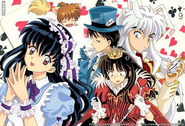 Tags: Anime, Arehandora, InuYasha, Miroku, Sango, Higurashi Kagome, Shippo, InuYasha (Character), Queen of Hearts (Cosplay), Mad Hatter (Cosplay), Alice in Wonderland (Parody), Fanart, Fanart From DeviantART