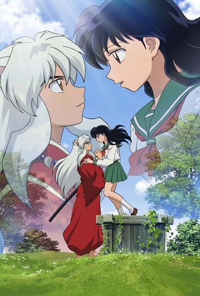 Tags: Anime, InuYasha, InuYasha (Character), Higurashi Kagome, Mobile Wallpaper, Official Art, Key Visual