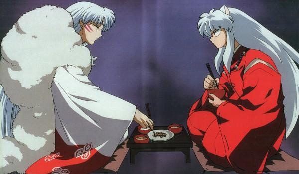 Tags: Anime, Takahashi Rumiko, Sunrise (Studio), InuYasha, InuYasha (Character), Sesshoumaru, Scan, Official Art, Wallpaper