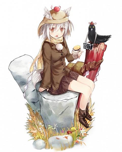 Tags: Anime, Efe, Touhou, Shameimaru Aya, Inubashiri Momiji, Shameimaru Aya (Crow), Sweet Potato, Shimenawa, Fanart From Pixiv, Pixiv, Revision, Fanart, Momiji Inubashiri