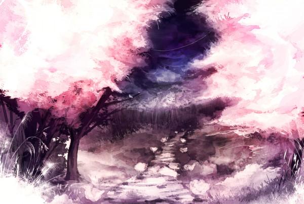 Tags: Anime, Iori Yakatabako, Path, No Character, Original, Pixiv