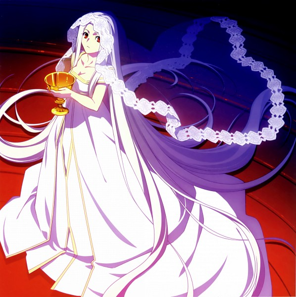 Tags: Anime, ufotable, TYPE-MOON, Fate/zero, catalogue, Irisviel von Einzbern, Scan, Official Art