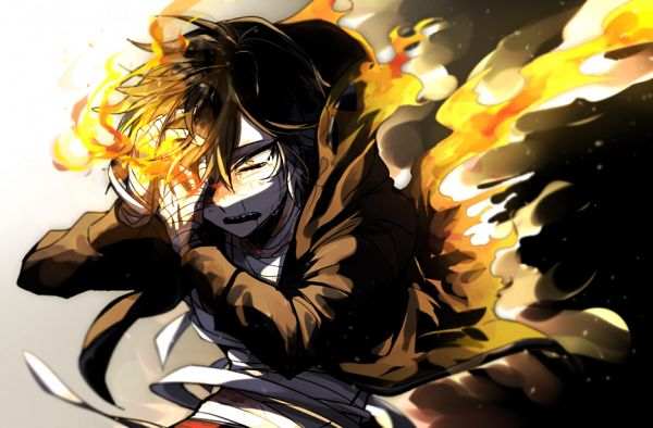 Tags: Anime, Pixiv Id 4657637, Satsuriku no Tenshi, Isaac Foster, Open Hoodie, Bandaged Head, Pixiv, Fanart, Fanart From Pixiv